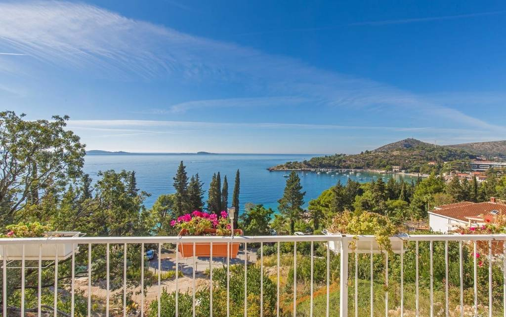 Rivijera Dubrovnik  Mlini - Apartmani KaBa-  terrace with sea view