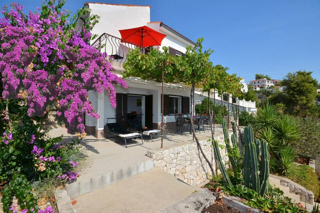 Otok Čiovo  Okrug Gornji - Apartmani Sreća - terrace with beautifull view